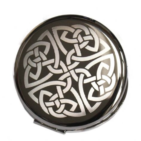 Personalised Celtic Knot Compact Mirror